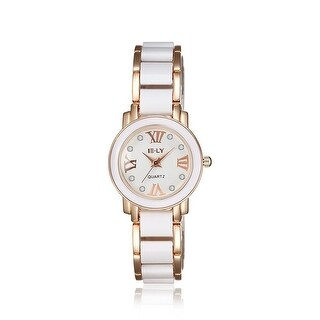 Rose Gold Plated Ivory Lining Petite Watch - Black