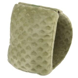 Unique Bargains Office Desk Plush Coated Portable Travel Sleep Nap Pillow Cushion Olive Green