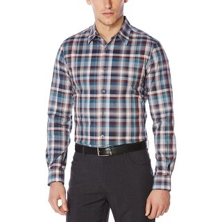 Perry Ellis Mens Casual Shirt Button Down Long Sleeves