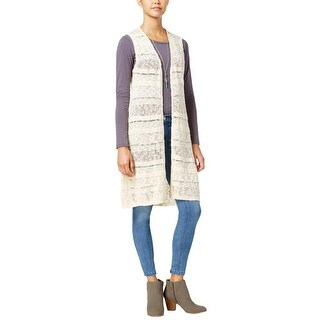 One Hart Womens Juniors Duster Top Cotton Knit