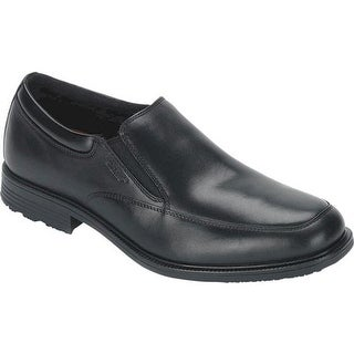 Rockport Men's Essential Details Waterproof Slip On Black Leather