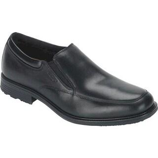 Rockport Men's Essential Details Waterproof Slip On Black Leather