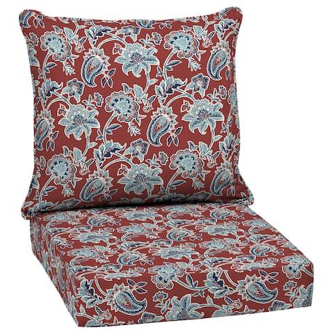 Arden Selections Caspian Outdoor Deep Seat Cushion Set - 24 W x 24 D in.