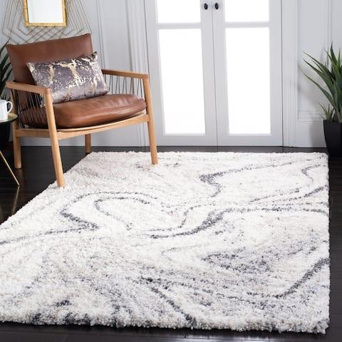 SAFAVIEH Fontana Shag Gisela Modern Abstract 2-inch Thick Rug