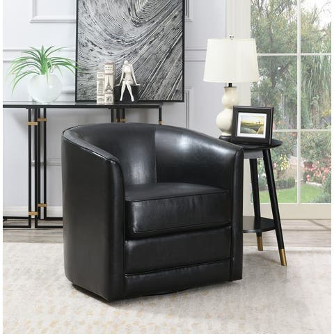 Copper Grove Domenic Contemporary Upholstered Swivel Accent Chair