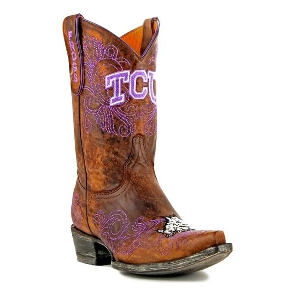 Gameday Boots Womens College Team Texas Christian Brass