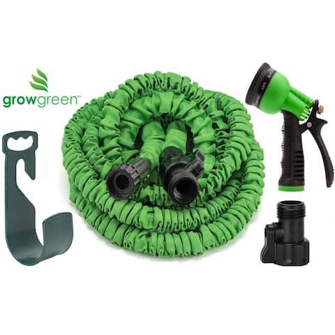 GrowGreen® Expandable Garden Hose Set 50 Feet