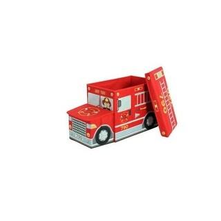 Greenway GFS1100FT Childrens Storage Ottoman Fire Truck - Red