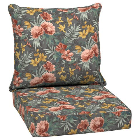 Arden Selections Phoebe Floral Outdoor 24 in. Conversation Set Cushion - 24 (L) x 24 (W) x 5.75 (H)