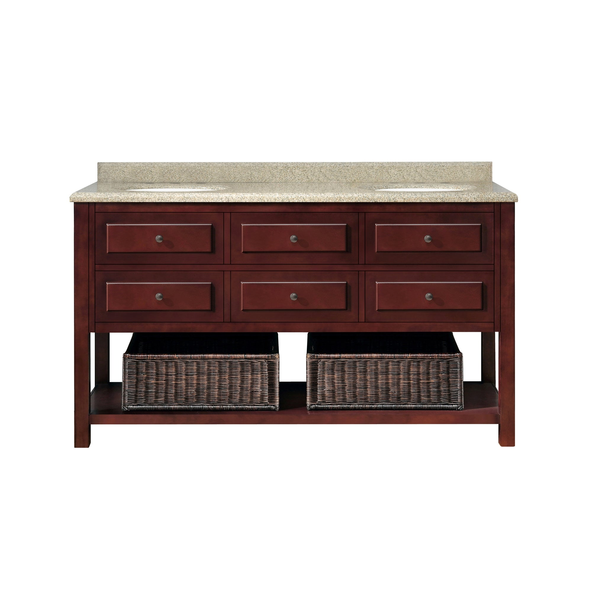 Ove Decors Danny 60 Inch Double Sink Bathroom Vanity Granite Top Overstock 8911254