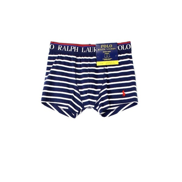 Shop Polo Ralph Lauren Navy Blue Mens Size Small S Striped Boxer Brief 094  - Free Shipping On Orders Over  45 - Overstock.com - 22024236 5a62ed8f942