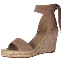 Marc Fisher Womens Kaee Suede Open Toe Casual Platform Sandals