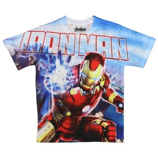 Marvel Avengers Age Of Ultron Big Boys Iron Man Omni Power Sublimation T-Shirt