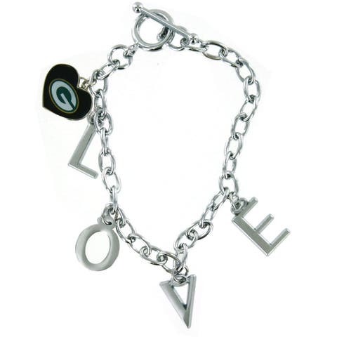 Green Bay Packers Love Charm Bracelet - Multi