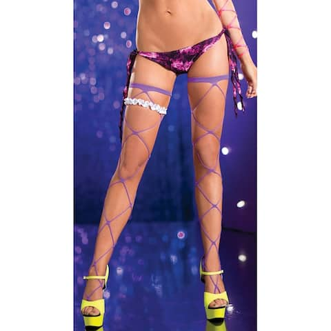 Jumbo Net Thigh Highs, Wide Net Stockings - One Size Fits Most