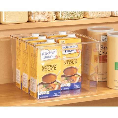 mDesign Plastic Kitchen Food Storage Organizer Bin - 8 Pack