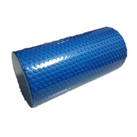 Yoga Gym Pilates EVA Soft Foam Roller Floor Exercise Fitness Trigger 30x14.5cm Blue
