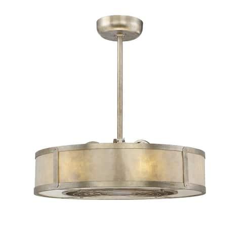 Windstar LED Fan D`lier Silver Dust - Exact Size