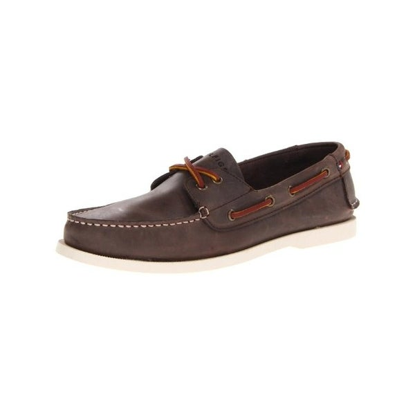 4fc5366b4 Shop Tommy Hilfiger Mens Bowman Boat Shoes Leather Moc-Toe - Free ...