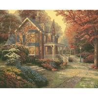 "Thomas Kinkade Paint By Number Kits 16""X20""-Victorian Autumn"