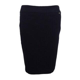 Tahari Women's Petite Solid Pencil Skirt - Black