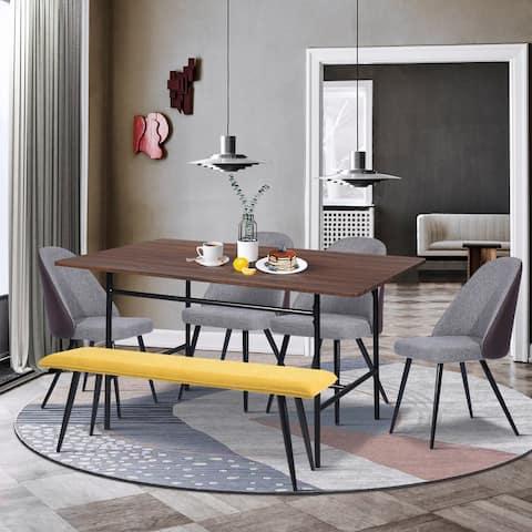 Furniture R Mid-Century Modern 6-piece Dining Table Set