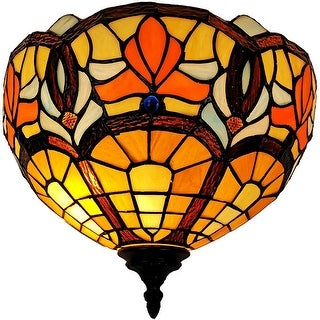 Link to Tiffany Style Victorian Design Wall Sconce Lamp AM082WL12B Amora Lighting Similar Items in Sconces
