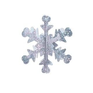 "Club Pack of 60 Mini Prismatic 3-D Winter Snowflake Centerpiece Party Decorations 3.5"""
