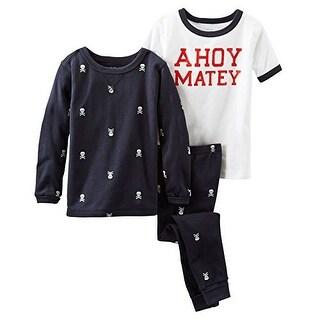 OshKosh B'Gosh Little Boys' Ahoy Matey Pirate 3 Piece Pajama Set - 6 Kids