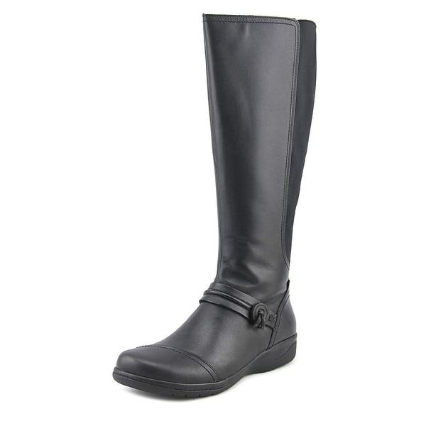 Clarks Cheyn Whisk Women Round Toe Leather Black Knee High Boot