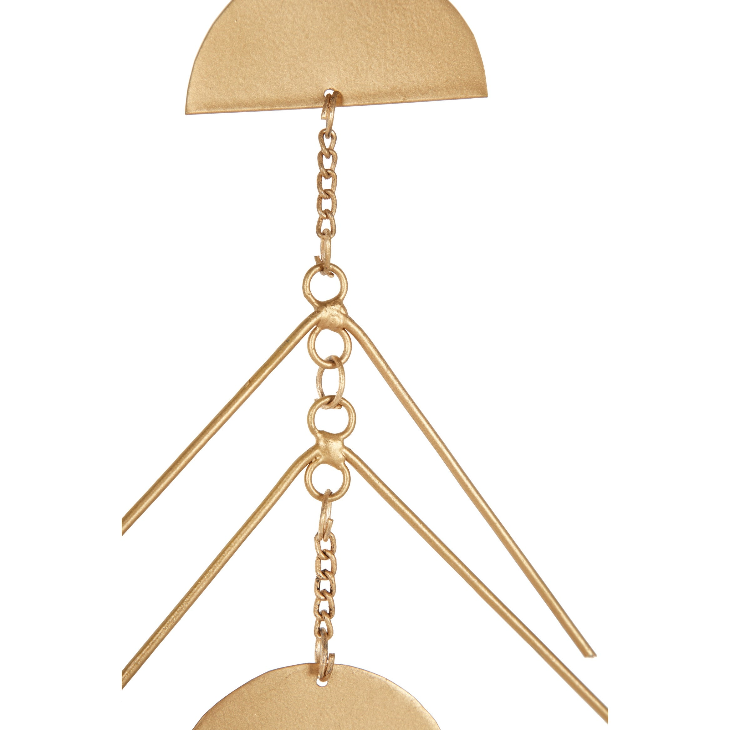 Set Of 2 Large Celestial And Geometric Shape Gold Metal Wind Chime Overstock 32168281