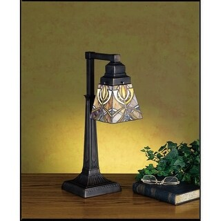 Meyda Tiffany 27636 Stained Glass / Tiffany Accent Table Lamp from the Glasgow Bungalow Collection - n/a