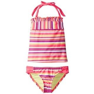 Adidas Girls Striped Tankini Swimsuit - 14