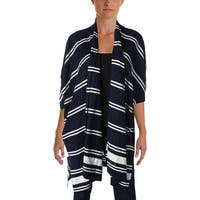 Lauren Ralph Lauren Womens Mandolie Cardigan Sweater Drapey Striped