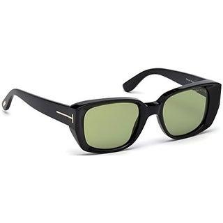 Tom Ford Raphael Sunglasses (Black Frame / Green Lens)