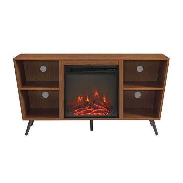 Magnificent Shop Offex 52 Angled Side Fireplace Console With Metal Legs Download Free Architecture Designs Scobabritishbridgeorg