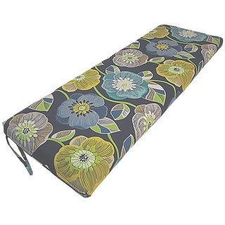 Link to Poppies Navy Indoor/Outdoor Bench Cushion Similar Items in Outdoor Cushions & Pillows
