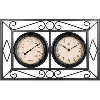 Link to The Bookend 20 inch Rectangle Wall Clock/Thermometer Indoor/Outdoor Decor Similar Items in Decorative Accessories