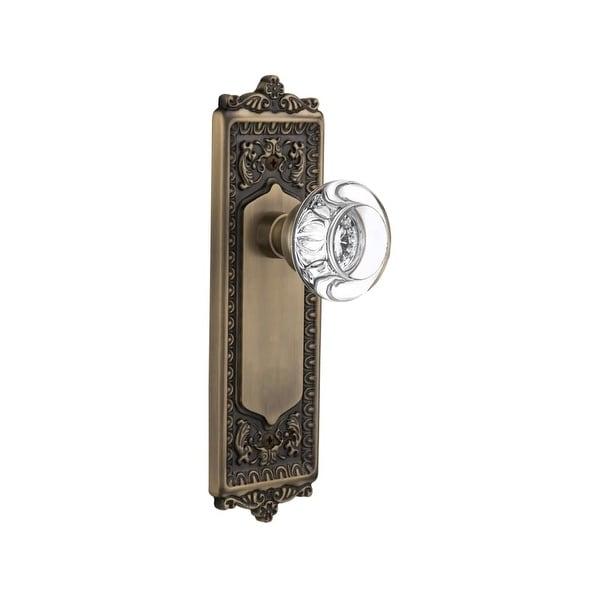 Passage Antique Brass Round Knob Handle knobs Door Lock locks Hallway or Closet
