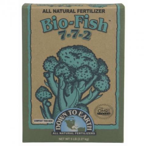 Down To Earth 07842 Bio-Fish All Natural Fertilizer, 5 Lbs, 7-7-2