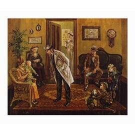 ''Doctor's Office'' by Lee Dubin Americana Art Print (28.5 x 34 in.)