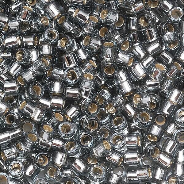Miyuki Delica Seed Beads 11/0 'Silver Lined Grey' DB048 7.2 GR