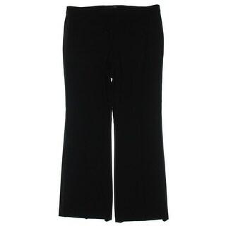Lauren Ralph Lauren Womens Tuxedo Pant Solid Faux Pockets