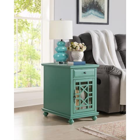 Elegant Chairside End Table with Power