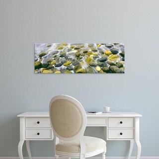 Easy Art Prints Panoramic Image 'Surf, pebbles, Calumet Beach, La Jolla, San Diego, San Diego, California' Canvas Art