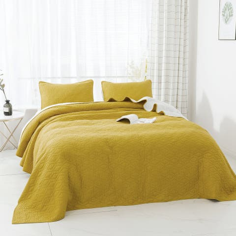 Kasentex 3-Piece Designer Oversize Quilt Set