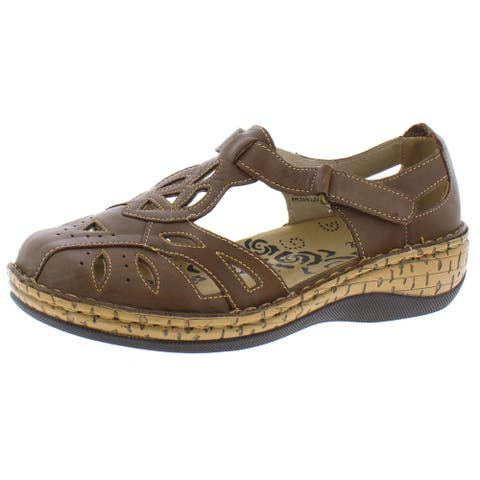 Propet Womens Jenna Fisherman Sandals Leather Cut Out
