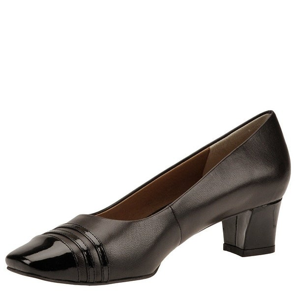 Auditions Womens classy Leather Cap Toe Classic Pumps