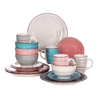 Link to vancasso Bella 16-Piece Vintage Stoneware Dinnerware Set for 4 Similar Items in Glasses & Barware
