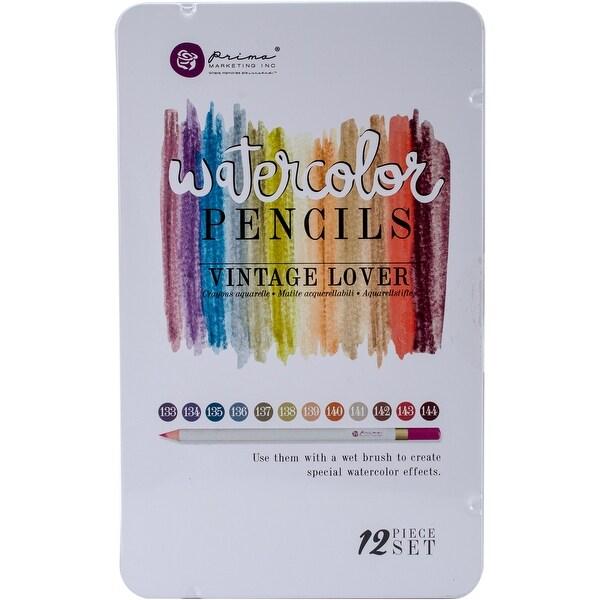Prima Marketing Mixed Media Watercolor Pencils 12/Pkg-Vintage Lover